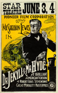 "Movie Posters:Horror, Dr. Jekyll and Mr. Hyde (Pioneer, 1920). Window Card (14"" X 22"")....."