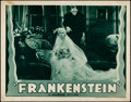 "Movie Posters:Horror, Frankenstein (Universal, R-1938). Lobby Card (11"" X 14"").. ..."