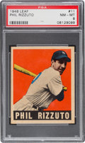 Baseball Cards:Singles (1940-1949), 1948 Leaf Phil Rizzuto #11 PSA NM-MT 8....