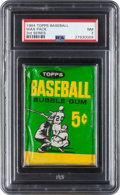 Baseball Cards:Lots, 1964 Topps Baseball 3rd Series Unopened Wax Pack PSA NM 7. ...
