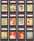 Baseball Cards:Lots, Signed 1933 Goudey Baseball Card Collection SGC Authentic (12) With Cronin & Sewell. ...