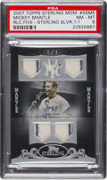Baseball Cards:Singles (1970-Now), 2007 Topps Sterling Mickey Mantle Quad Pinstripes Relic #5SM5 PSANM-MT 8 - Numbered 1 of 1! ...