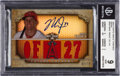 Baseball Cards:Singles (1970-Now), 2013 Topps Triple Threads Mike Trout Sepia Jersey Autograph #101BGS Mint 9 - 10 Autograph....
