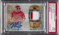 Baseball Cards:Singles (1970-Now), 2013 Topps Five Star Mike Trout Patch Autograph #MT PSA Mint 9 -Numbered 5 out of 35. ...