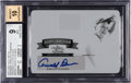 Golf Cards:General, 2011 Leaf Golf Metal Arnold Palmer National Pride Autographs Printing Plates Black 1 of 1 #NPAP1 BGS Mint 9 - 10 Autograph. ...