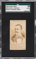 Boxing Cards, 1889 N223 Kinney John Sullivan SGC 50 VG/EX 4 - Pop Two, None Higher!...