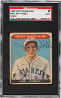 Autographs:Baseballs, Signed 1933 Sport Kings Carl Hubbell #42 SGC Authentic....