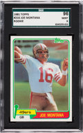 Football Cards:Singles (1970-Now), 1981 Topps Joe Montana #216 SGC 96 Mint 9....