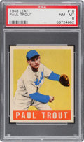 Baseball Cards:Singles (1940-1949), 1948 Leaf Paul Trout #10 PSA NM-MT 8 - None Higher. ...