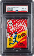 Baseball Cards:Unopened Packs/Display Boxes, 1970 Topps Baseball 4th Series Unopened Wax Pack PSA NM-MT 8. ...