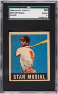 Baseball Cards:Singles (1940-1949), 1948 Leaf Stan Musial #4 SGC 80 EX/NM 6....