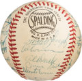 Autographs:Baseballs, 1954 New York Giants Team Signed Baseball. ...