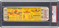 Baseball Collectibles:Tickets, 1956 World Series Game Five (Larsen Perfect Game) Full Ticket, PSAEX-MT 6--Finest Known!...