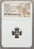 Ancients:Greek, Ancients: BACTRIA. Early Hellenistic era. Sophytes (?). Ca. 325-294BC. AR hemidrachm (1.81 gm). NGC Choice XF 4/5 - 3/5....