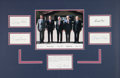 Miscellaneous Collectibles:General, 1991 Presidents Ronald Reagan, Richard Nixon, Gerald Ford, JimmyCarter, and George Bush, Sr. Signed Cut Signature Display. ...