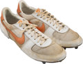 Football Collectibles:Others, Circa 1983 Reggie White Game Worn Tennessee Volunteers Cleats....