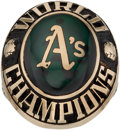 Baseball Collectibles:Others, 1974 Oakland A's World Series Lady's Ring....