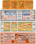 Baseball Collectibles:Tickets, 1944-48 All-Star Game Full Tickets Lot of 4. ...