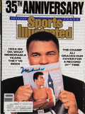 Boxing Collectibles:Autographs, 1989 Muhammad Ali Signed Sports Illustrated Magazine....