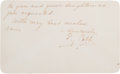 Baseball Collectibles:Others, 1948 Ty Cobb Handwritten Signed Note. ...