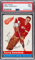 Hockey Cards:Singles (Pre-1960), 1954 Topps Terry Sawchuk #58 PSA NM 7....