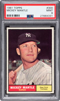 Baseball Cards:Singles (1960-1969), 1961 Topps Mickey Mantle #300 PSA Mint 9....