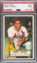 Baseball Cards:Singles (1950-1959), 1952 Topps Harry Lowrey #111 PSA Mint 9 - None Higher. ...