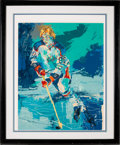 """Hockey Collectibles:Others, 1981 """"The Great Gretzky"""" Signed Serigraph by LeRoy Neiman...."""