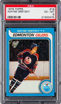 Hockey Cards:Singles (1970-Now), 1979 Topps Wayne Gretzky #18 PSA EX-MT 6....