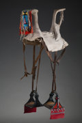 American Indian Art:Beadwork and Quillwork, A Crow Woman's Parade Saddle...