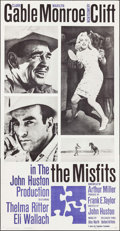 "Movie Posters:Drama, The Misfits (United Artists, 1961). Three Sheet (41"" X 79""). Drama.. ..."