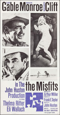 "The Misfits (United Artists, 1961). Three Sheet (41"" X 79""). Drama"