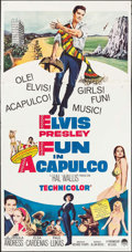 "Movie Posters:Elvis Presley, Fun in Acapulco (Paramount, 1963). Three Sheet (41"" X 79""). ElvisPresley.. ..."