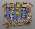 American Indian Art:Beadwork and Quillwork, A Sioux Beaded Hide Tipi Bag...