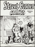 "Original Comic Art:Sketches, Robert Crumb ""Street Corner Comics"" Sketch Original Art (1968)...."