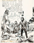 Original Comic Art:Covers, Ernie Chan (attributed), and Nestor Redondo (attributed) Battlefor the Planet of the Apes [Book and Record Set] #... (Total:21 Original Art)