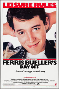 """Ferris Bueller's Day Off (Paramount, 1986). One Sheet (27"""" X 41""""). Comedy"""
