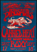 "Movie Posters:Rock and Roll, Dinosaurs and Canned Heat at the Roxy (1982). First PrintingConcert Window Card (14.25"" X 20.25""). Rock and Roll.. ..."