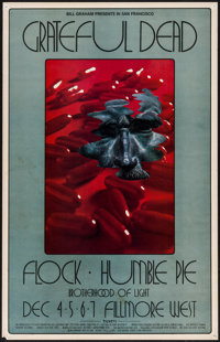 """The Grateful Dead at the Fillmore West (Bill Graham, 1969). First Printing Concert Window Card (14"""" X 22""""). Ro..."""