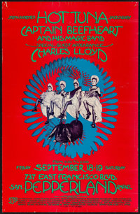"""Hot Tuna at Pepperland (1970). First Printing Concert Poster (13"""" X 20""""). Rock and Roll"""