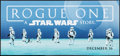 """Movie Posters:Science Fiction, Rogue One: A Star Wars Story (Walt Disney Studios, 2016). Marquee Display Poster (13.75"""" X 29.5"""") DS Advance. Science Fictio..."""