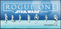 "Rogue One: A Star Wars Story (Walt Disney Studios, 2016). Marquee Display Poster (13.75"" X 29.5"") DS Advance..."