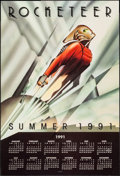 "Movie Posters:Action, The Rocketeer (Walt Disney Pictures, 1991). Calendar (18"" X 27""). Advance. Action.. ..."