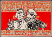"New Mobilization March (Tea Lautrec, 1966). First Printing Poster (14"" X 20""). Miscellaneous"