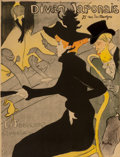 Prints & Multiples, Henri de Toulouse-Lautrec (French, 1864-1901). Divan Japonais, 1893. Lithograph in colors. 31-1/4 x 23-7/8 inches (79.4 ...