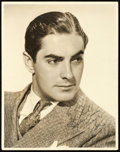 """Movie Posters:Miscellaneous, Tyrone Power (20th Century Fox, 1930s). Autographed Portrait Photo (11"""" X 14"""").. ..."""