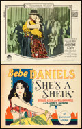 "Movie Posters:Adventure, She's a Sheik & Other Lot (Paramount, 1927). Title Lobby Card& Lobby Card (11"" X 14"").. ... (Total: 2 Items)"