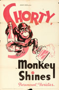 "Movie Posters:Documentary, Monkey Shines (Paramount, 1934). One Sheet (27"" X 41"").. ..."