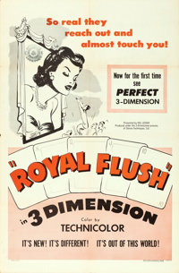 "Royal Flush (Sol Lesser, 1953). One Sheet (27"" X 41"") 3-D Style"