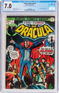 Bronze Age (1970-1979):Horror, Tomb of Dracula #7 Double Cover (Marvel, 1973) CGC FN/VF 7.0 Creamto off-white pages....